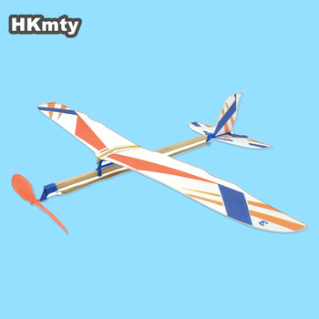 HKmty DIY Kids Toys Rubber Band Powered Aircraft Model Kits Toys for Children Foam Plastic Assembly Planes Model Gifts
