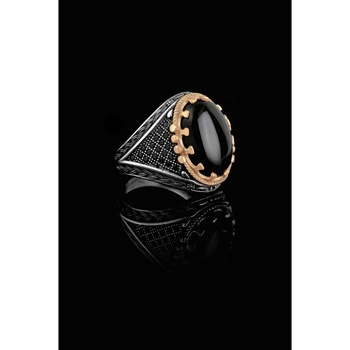 Male Black Cubic Zirconia 925 Sterling Silver Ring black cubic zirconia 925 sterling silver men s ring