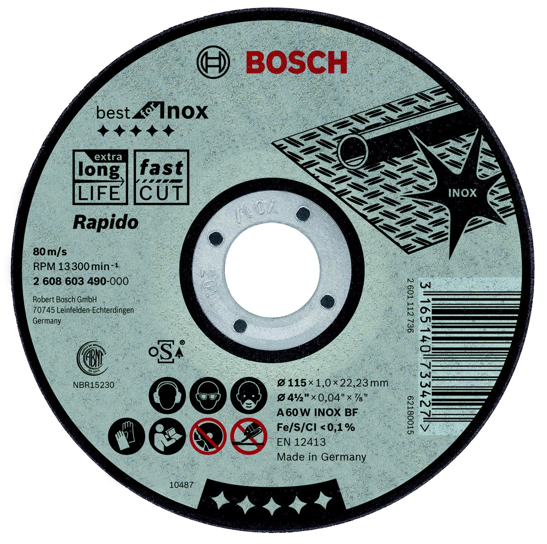 Circle Cutting BOSCH 180х1. 6x22 Best For Inox (2.608.603.498)