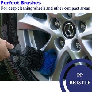 Image 4 - 2PCS Car Wheel Brush 17Inch Long Easy Reach Tire Rim Detailing Brush Multifunction for Car Truck Motor Bicycle Cleaning Tool