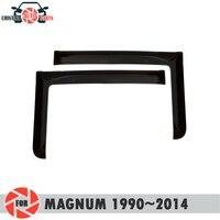 Deflector janela para Renault Magnum 1990 ~ 2014 chuva defletor sujeira proteção styling acessórios de decoração do carro de moldagem|Estilo de cromo| |  -