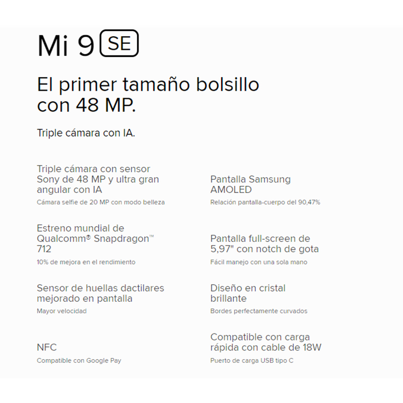 [Version globale] Xiaomi Mi 9 SE Smartphone AMOLED 5,97