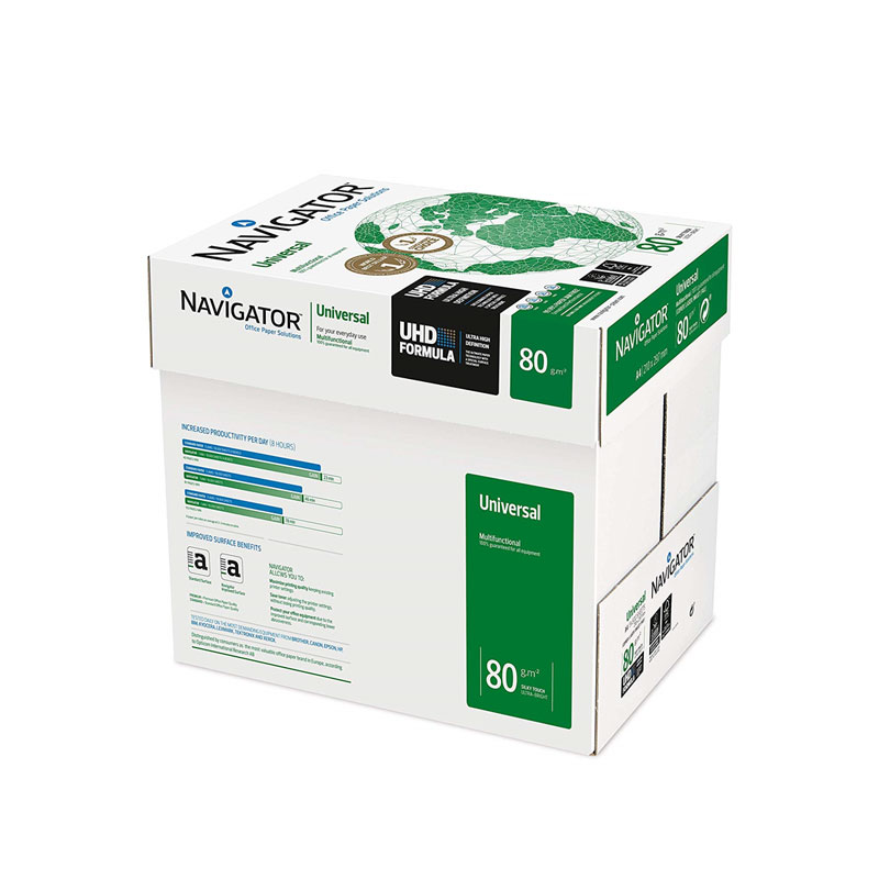 NAVIGATOR. PAPER PHOTOCOPIER  DIN A3 80 GRAMS PAPER MULTI PURPOSE INK-JET AND LASER-PACK 2500 SHEETS