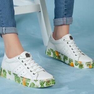 Женские кроссовки из натуральной кожи Обувь для женщин 2020 Мода Новый стиль Лето Высококачественные повседневные женские повседневные удоб...