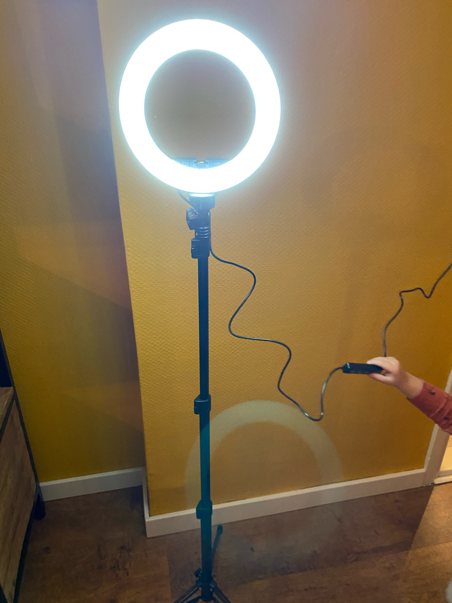 LED Video Ring Light with 51inch Tripod Stand Phone Holder photo review