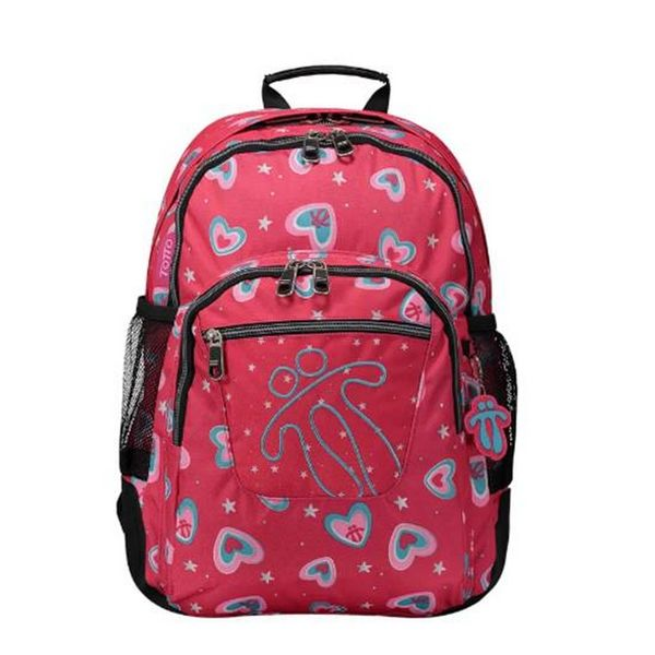 School Bag Totto Crayoles Fuchsia (44 X 33 X 14 Cm)