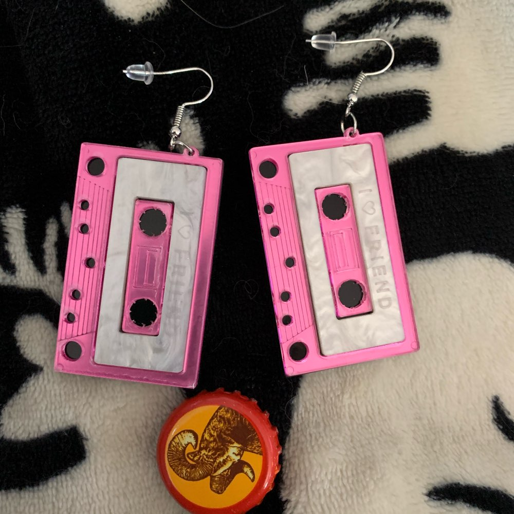 Persönlichkeit Nette Kassette Ohrringe Acryl Punk Lustige Ohrringe Für