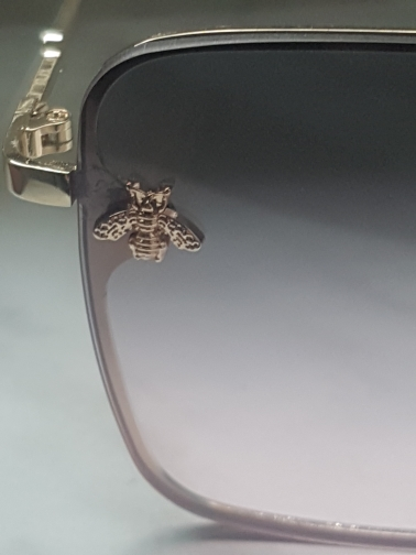 Oversize Rimless Square Bee Sunglasses for Women photo review
