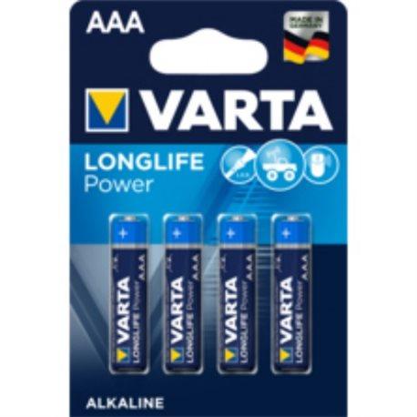 ALKALINE Battery LR03 AAA 1,5V LONGLIFE POWER VARTA 4 PZ