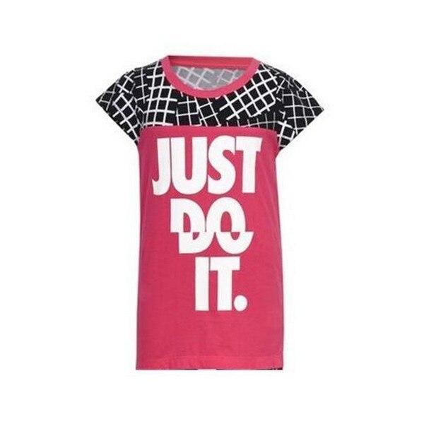 Short Sleeve T Shirt Nike 848 A72 Pink|  - title=