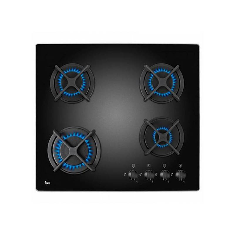 Gazlı ocak Teka HFLUX60 (60 cm) siyah (4 brülör soba)|İndüksiyon Ocakları|Ev Aletleri - title=
