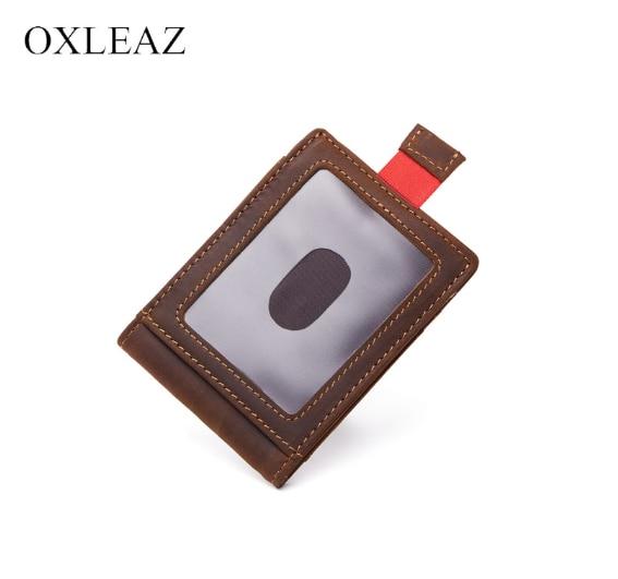Кожаный кошелек с держателем денег OXLEAZ OX024