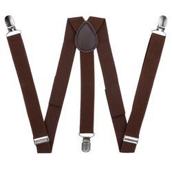 Pants suspenders narrow (2.5 cm, 3 clips, Brown) 54163