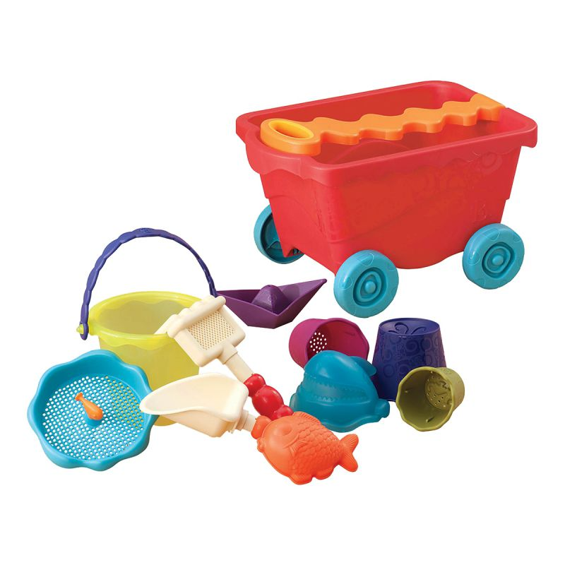 Trolley With Game Set For Sand, Red