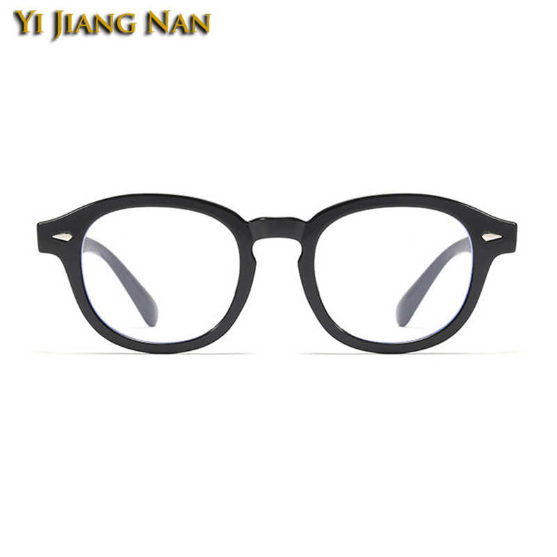 Óculos de prescrição redonda do vintage retro marca designer dos homens óculos de moda feminina óculos ópticos quadro lente clara