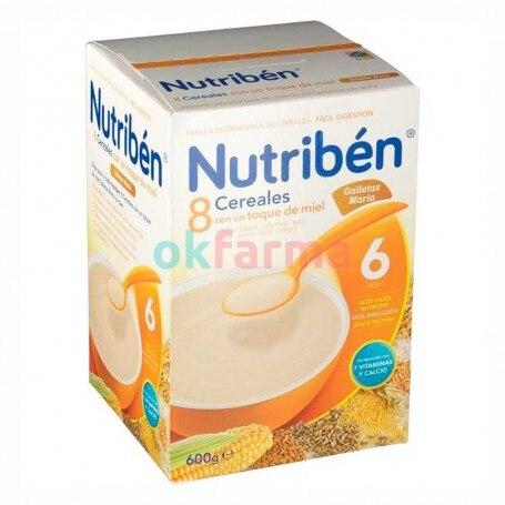Nutriben 8 Cereals And Honey Maria Cookies 600 GR