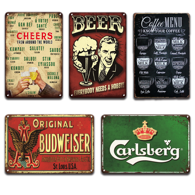 Place Home Your Name Custom Beer Friends Sign Wall Plaque or Hanging Vintage
