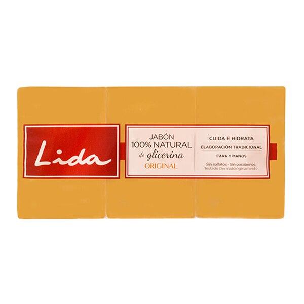 Natural Glycerine Soap Bar Lida (3 Pcs)