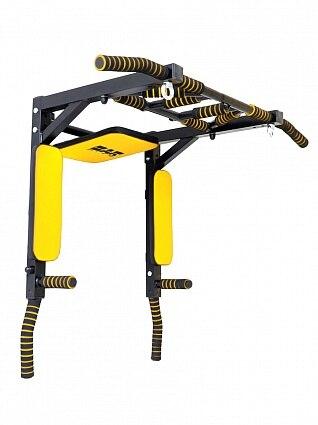 Horizontal Bar 3 In 1 Wall Premium 2.0 Barfits Parallel Bars Press Black And Yellow