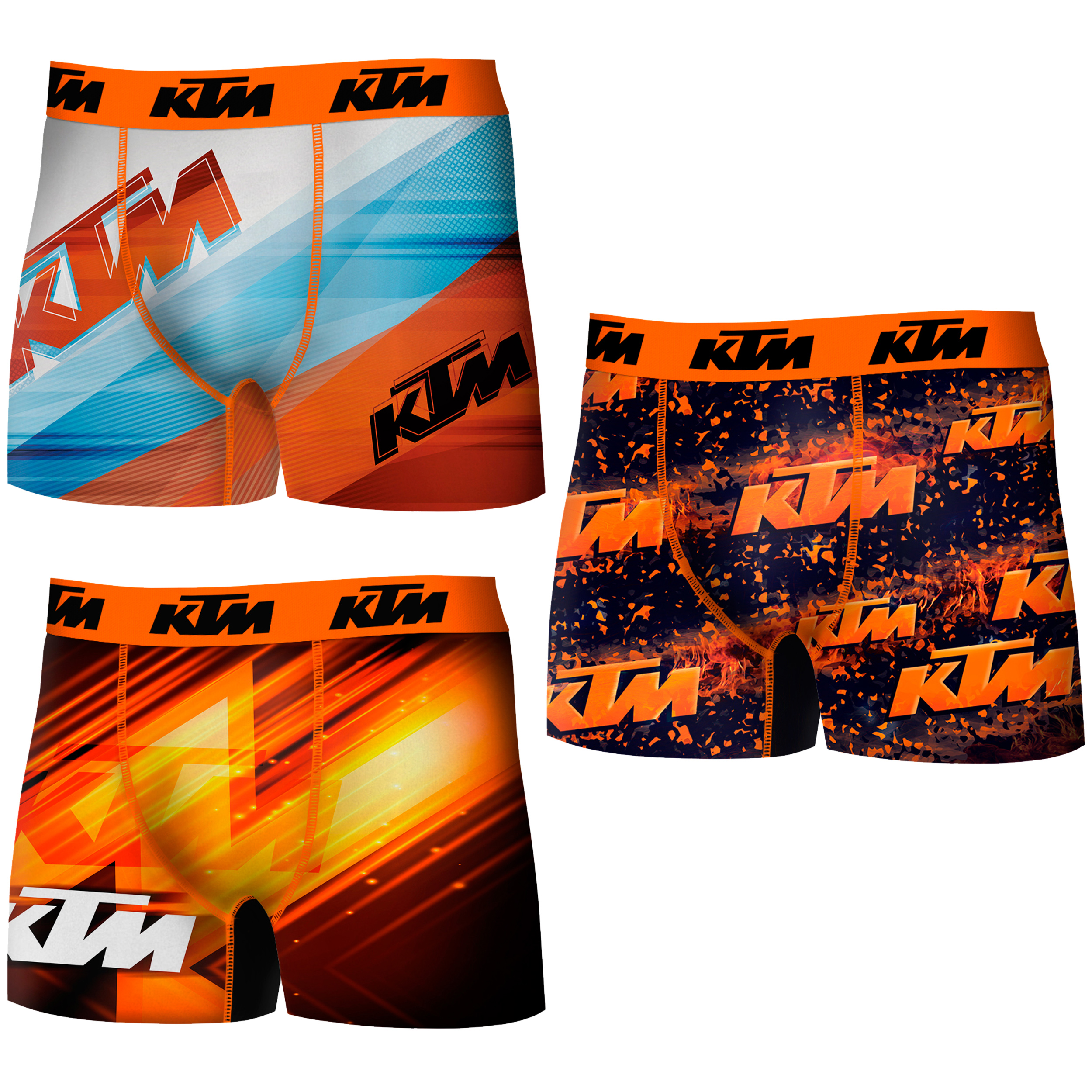 KTM Boxers Type Boxer Pack 3 Units In Colors Stampings For Men