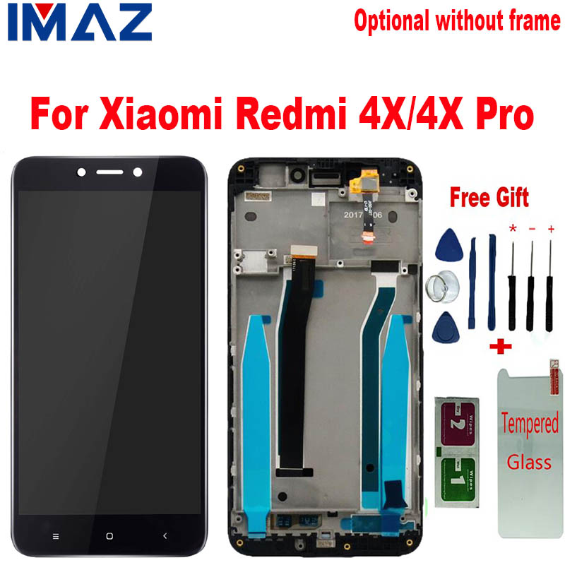 IMAZ 10 Touch For <font><b>Xiaomi</b></font> <font><b>Redmi</b></font> <font><b>4X</b></font> LCD <font><b>Display</b></font> With Touch Screen + <font><b>Frame</b></font> Digitizer Assembly Screen Replacement For <font><b>Redmi</b></font> <font><b>4X</b></font> Pro image