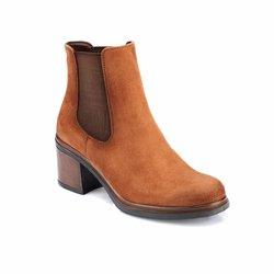 FLO 82.312240.Z коричневые женские сапоги на каблуке Polaris