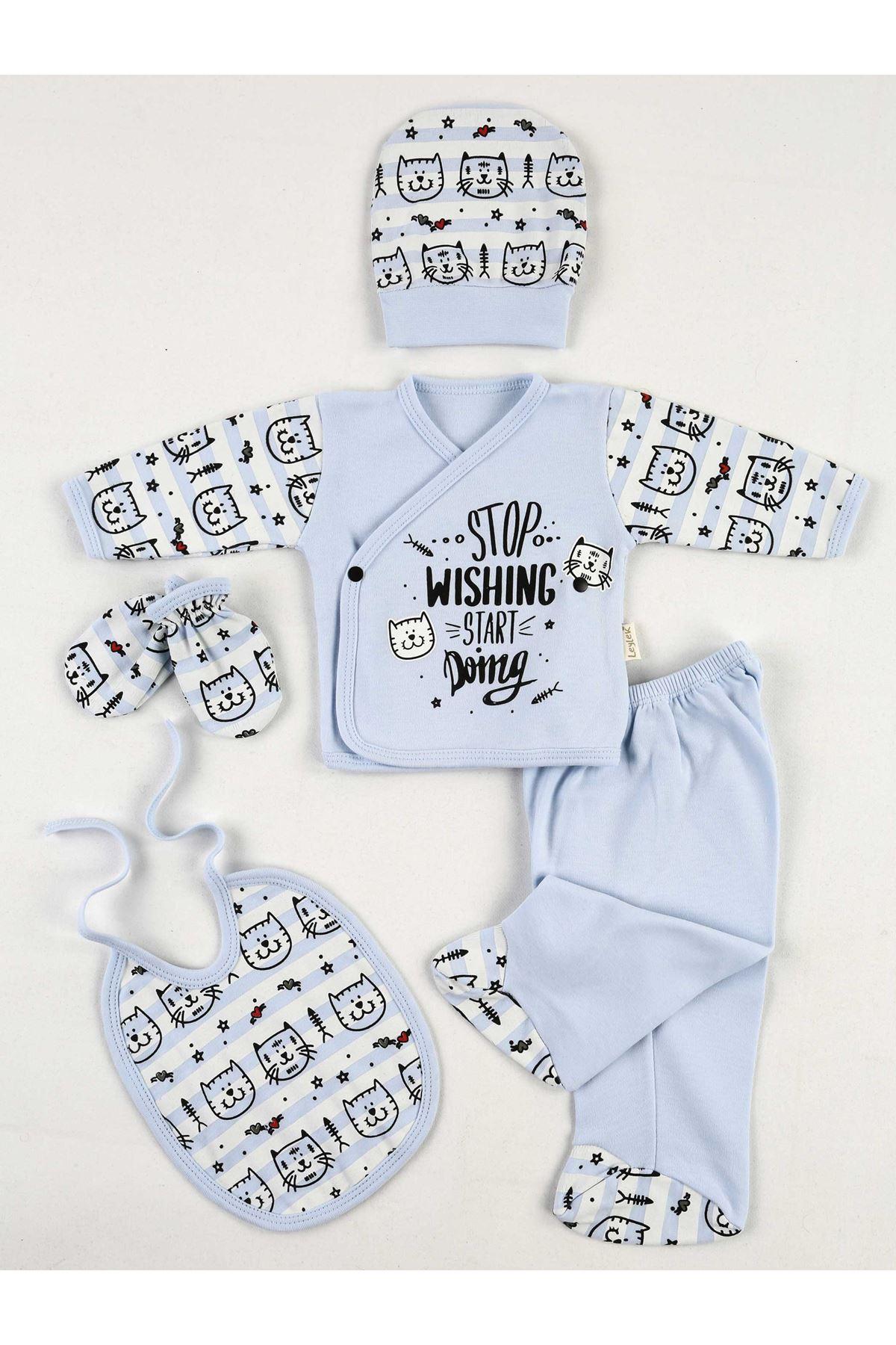 Blue Cat 5 Li Newborn Male Baby Hospital Output