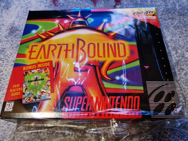 Earthbound with box 16bits game cartridge US Version photo review