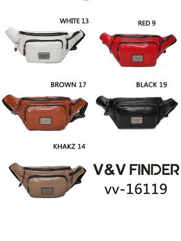 VV FINDER vv-16119 women bag shoulder bag PU waist bag with two pockets design for women, casual elegant travel 2020 рюкзак