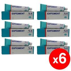 Crema auto hidroquinona 4% de 30g 1 para blanqueador de piel blanqueamiento aclarante de la piel tratamiento Melasma-paquete de 6
