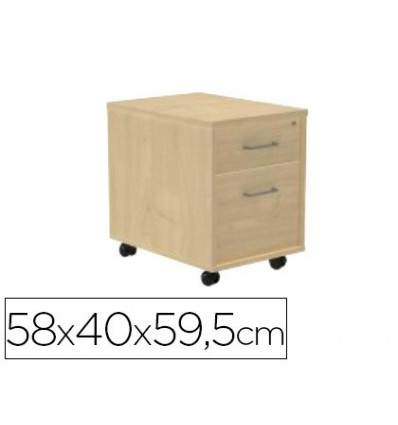 DRAWER ROCADA WITH TWO DRAWERS SERIALS STORE 58X40X59,5 CM FINISHING AA01 BEECH/BEECH
