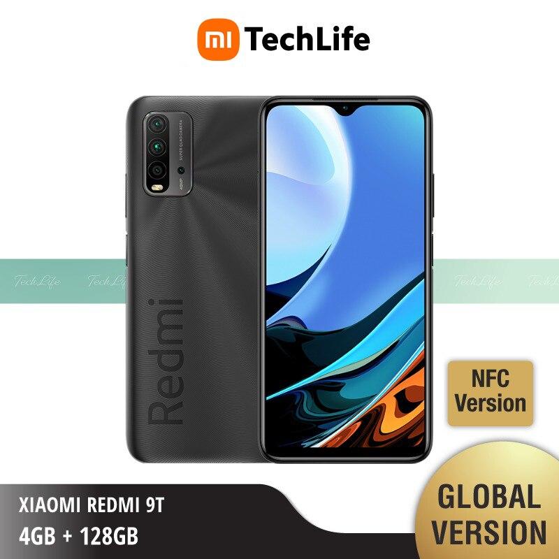 Глобальная версия Xiaomi Redmi-9T, 4 Гб оперативной памяти 128 ГБ ROM NFC (Фирменная Новинка/герметичные) смартфон мобильный бесплатная доставка