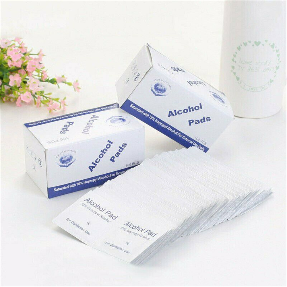 200Pcs Portable Alcohol Prep Pads Swab Wipes For Car Home Alcohol Wipes Isopropyl Alcohol Sterilizer Alcool Wipes Alcohol Pad