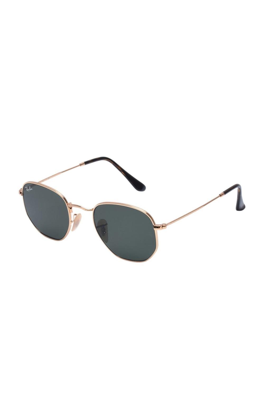 RAYBAN %100 Original  Sunglasses Hexagonal Flat Lenses UV Protection Lens Eyewear Accessories For Men/Women  RB3548N 001 48