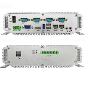 No monitor industrial computer with intel j1900 CPU 4G ram 64G SSD 1xVGA mini pc 4xCOM Support RS232 RS485 цена 2017