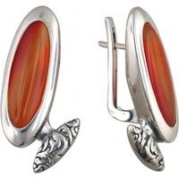 Esthete earrings with black silver Jade