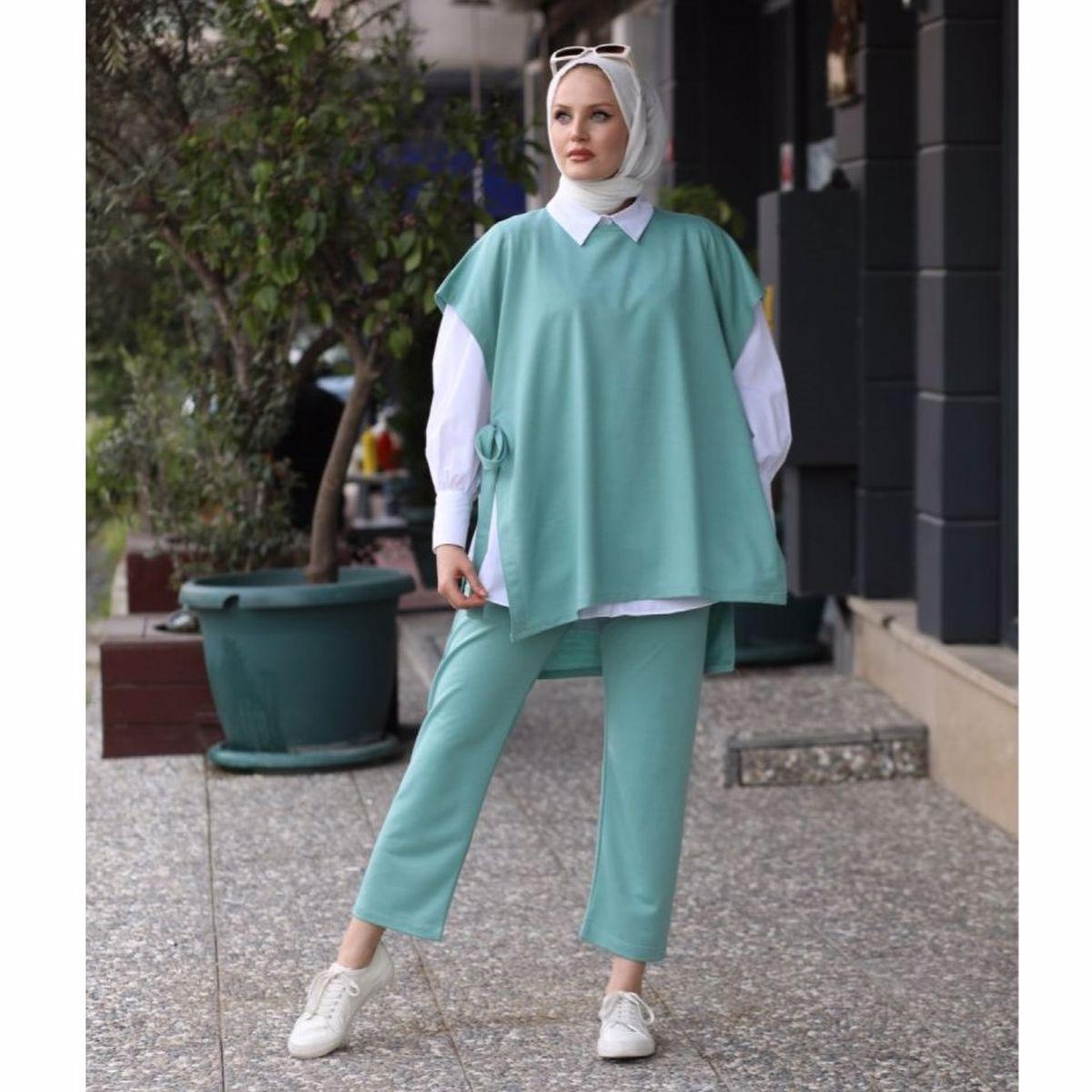 2 Piece Sweater and Sweatpants Women's Muslim Sport Set Muslim Fashion Islamic Clothing Turkey Dubai Abaya Hijab 2021