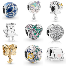Spring Colletion Wholesale 100% 925 Sterling Silver Garden Bella Bot charms Fit Pandora Bracelet Beads For Jewerly Making Gift