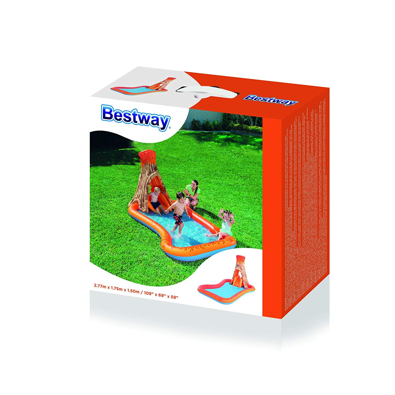 Bestway Inflatable Pool Child Island Volcano Splash 277 Cm X 175 Cm X 150 Cm-53063-