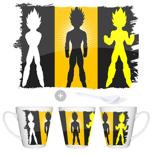 CUP TAPER VEGETA DRAGON BALL SUPER conic mug