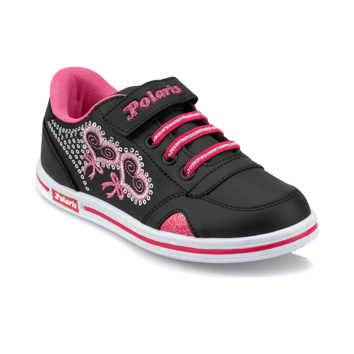 FLO 92.507666.F Black Female Child Sneaker Shoes Polaris