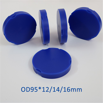 5 Pieces 95x12/14/16mm Dental Wax Blocks for Zirkonzahn System Dental Materials Wax Disc Crown Bridge Resin Wax White,Blue,Brown