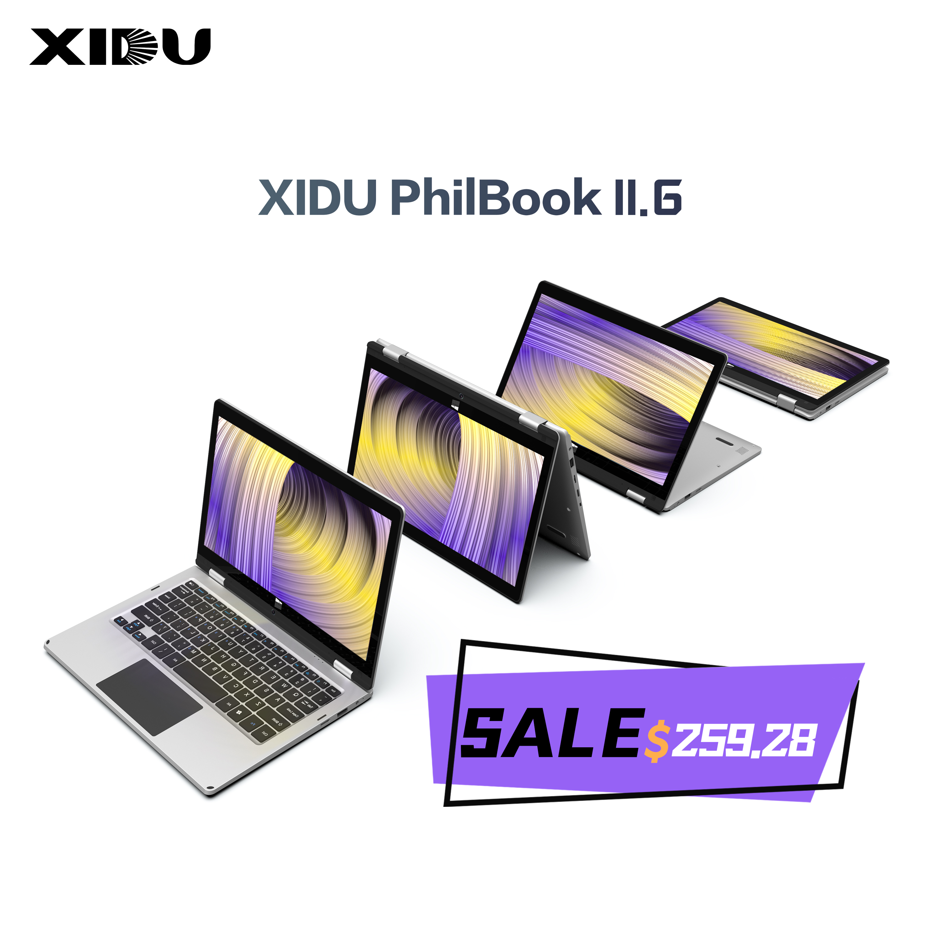 XIDU 11.6 in1 2 Polegada Tablet Touchscreen Laptops notebook 64GB1920x1080 4 Windows10 RAM GB ROM Intel Cereja Julgamento Z8350 Quad núcleo