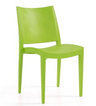 Chair BEYBE, stackable, polypropylene lime green