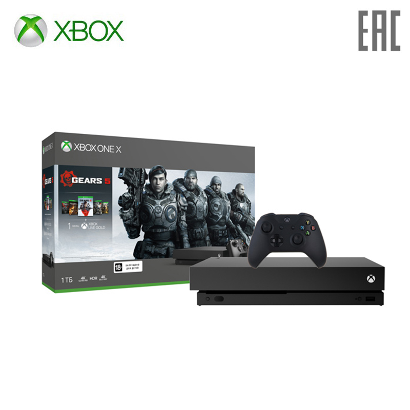 цена на Xbox One X with 1 TB memory games Gears 5 + Ultimate edition Gears of War gears of War 2, 3 and 4