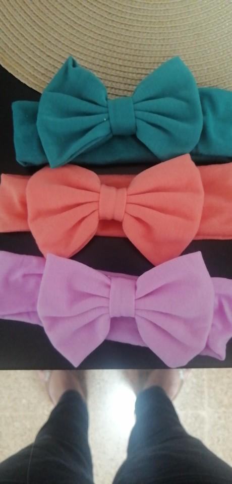 2020 New Cotton Elastic Newborn Baby Girls Solid Color Headband Bowknot Hair Band Children Infant Headband bandeau bebe