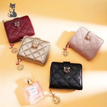 FOXER – sac à main en cuir pour femmes, porte-monnaie, pochette, court, tendance 1
