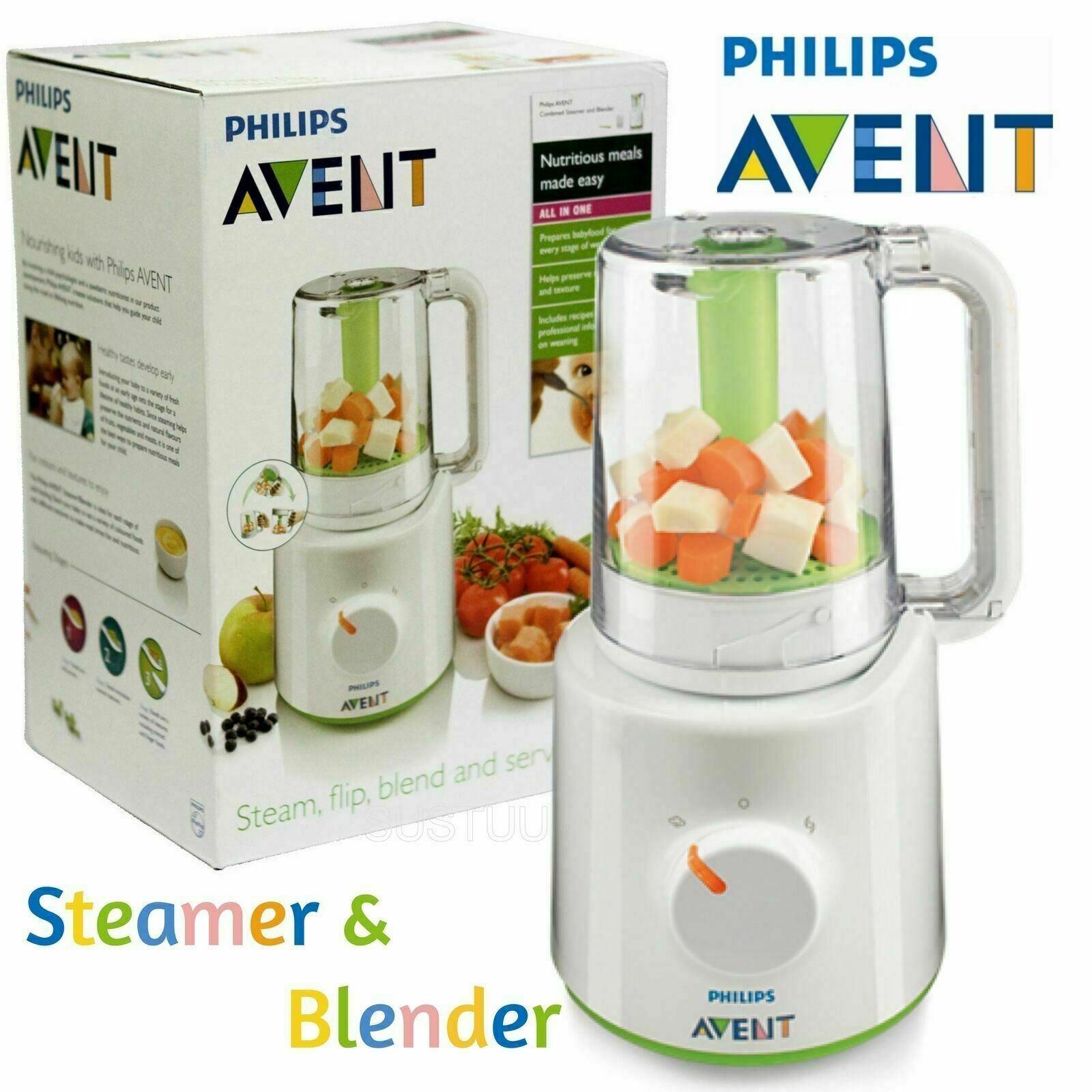 Philips Avent SCF870 Combined Baby Food Juice Soup Maker Master Steamer & Blender 220V Wasabi BPA FREE