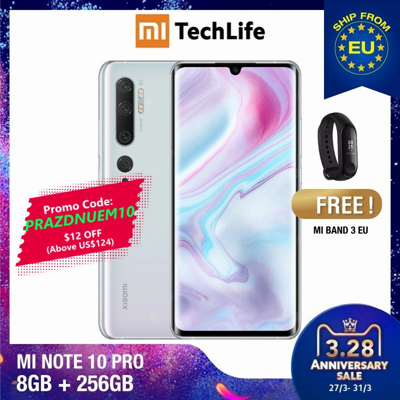 Global Version Xiaomi Mi Note 10 Pro 256GB ROM 8GB RAM (Brand New / Sealed) Note 10 Pro, Note10pro, Note10256