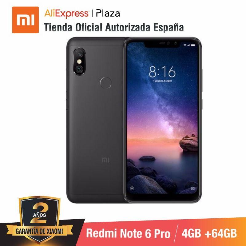 [Versión Global para España] Xiaomi Redmi Note 6 Pro (Memoria interna de 64GB, RAM de 4GB, Cuatro cámaras con IA) Smartphone